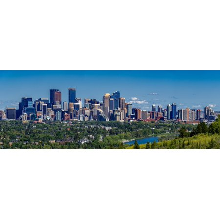 Skylines in a city Bow River Calgary Alberta Canada Poster Print by Panoramic Images](Halloween City Calgary)