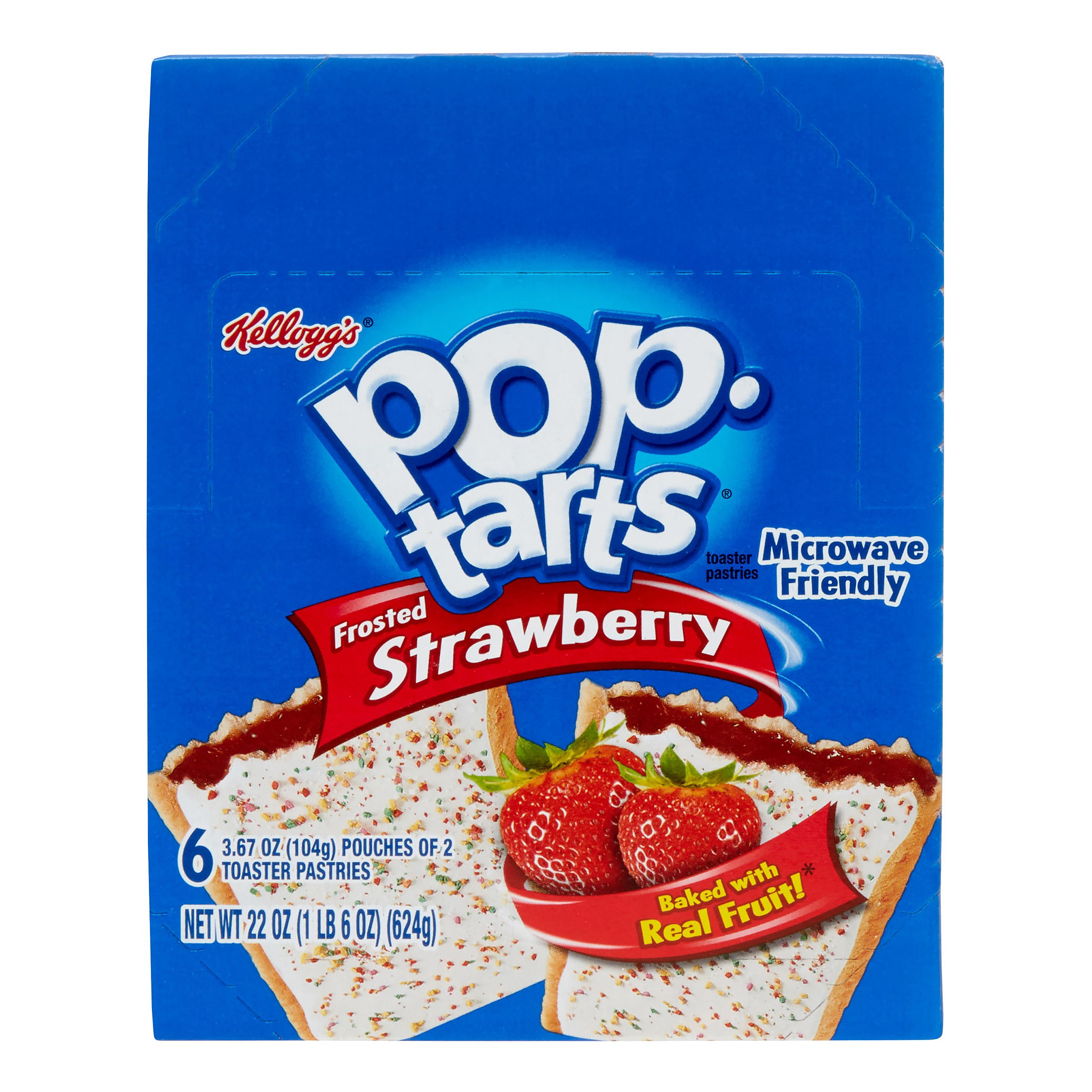 Pop-Tarts Toaster Pastries, Frosted Strawberry, 36ct by Kellogg's