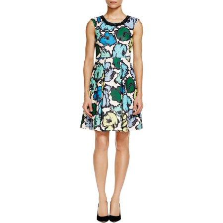 Plenty Dresses Tracy Reese Womens Box Pleated Fl Print Wear To Work Dress
