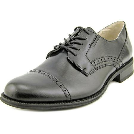 J. Ferrar Dane Men Round Toe Synthetic Black Oxford - Walmart.com 70eeadda075
