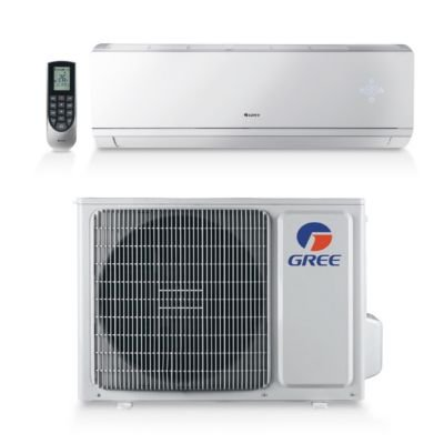 gree livs09hp230v1a 9 000 btu 16 seer livo wall mount ductless mini split air conditioner heat. Black Bedroom Furniture Sets. Home Design Ideas