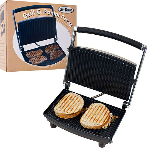 Chef Buddy Non-Stick Grill and Panini Press