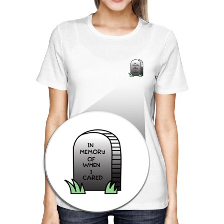 When Hallowen (In Memory Of When I Cared Pocket T-shirt Halloween Tee Ladies)