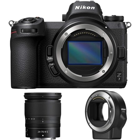 Nikon Z7 45.7MP FX Mirrorless Camera with Z 24-70mm Lens + FTZ Adapter (Renewed)