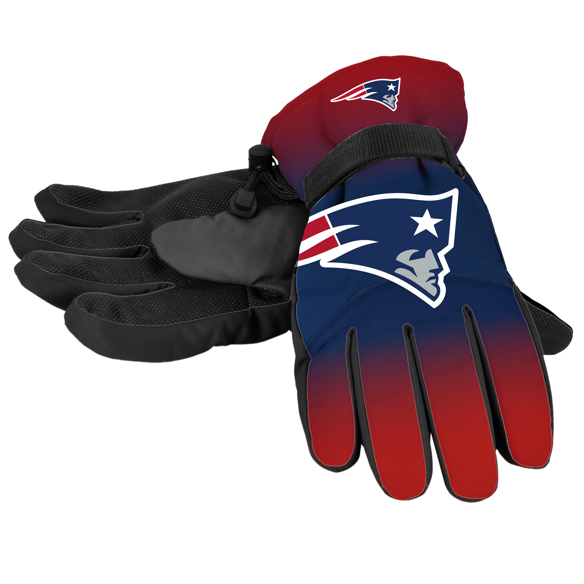 Forever Collectibles - NFL Gradient Big Logo Insulated Gloves-Small/Medium, New England Patriots