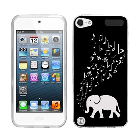 - One Tough Shield ® Slim-Fit TPU Case for Apple iPod Touch 5 5th / 6 6th Generation - Elephant Music