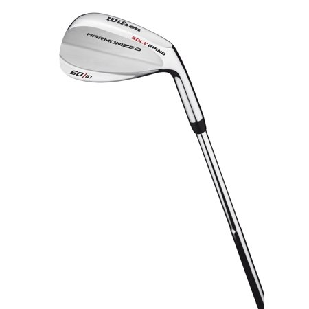 56 Degree Wedge - Wilson 60 Degree Men's Right-Handed Harmonized Silver Chrome Lob Wedge Golf Club