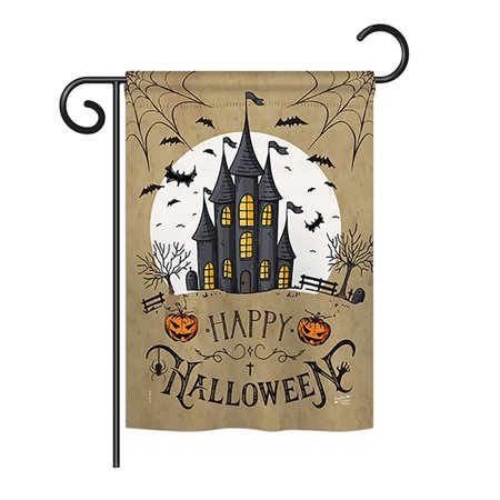 Six Flags Massachusetts Halloween (Angeleno Heritage G135126-BO Halloween Castle Fall Impressions Decorative Vertical 13