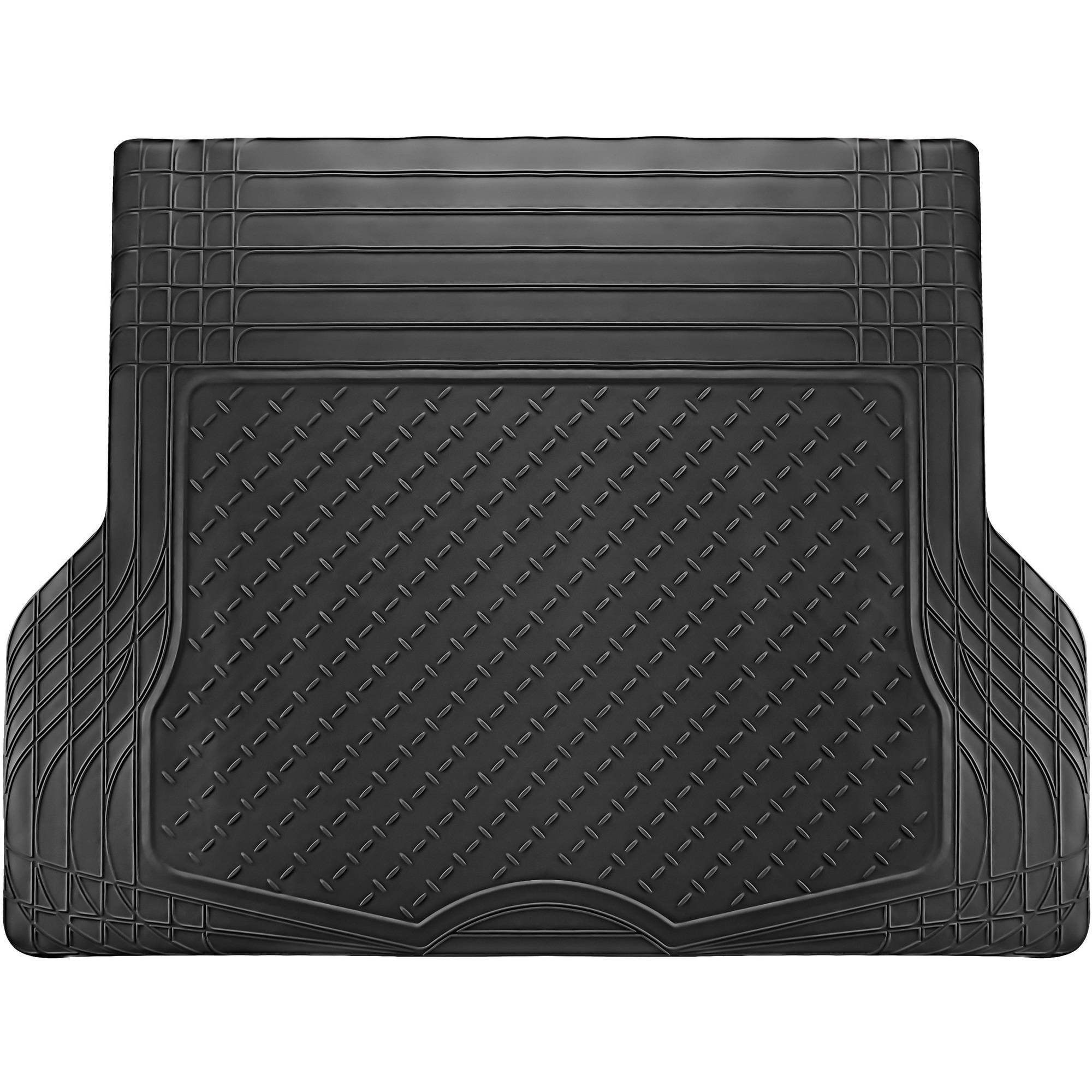 MotorTrend Premium Odorless Heavy Duty Trimmable High Grade Rubber Cargo Floor Mat 43.2 x 53.7 Black