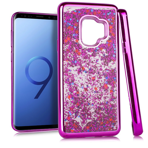 MUNDAZE Hot Pink Motion Glitter Chrome Case For Samsung Galaxy S9 Phone