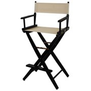 Black Frame Directors Chair with Natural Canvas