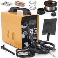 Zimtown Mig-130 Welding Machine Set, AC 110V Flux Core Automatic Feeding Wire Gas Less Commercial Welder with Free Mask, Variable Feed Speed Control, for Welding Mild steel, Stainless Steel & Iron