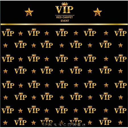 HelloDecor Polyster 5x7ft royal crown black hollywood vip banner backdrop Flannelette Birthday Adults children party photography studio background](Vip Backdrop)