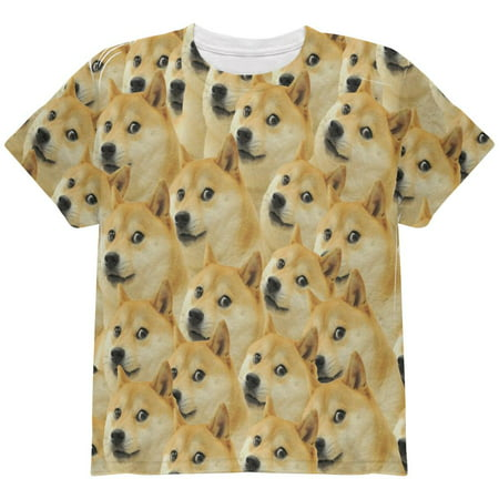 Doge Meme Funny All Over Youth T Shirt](Halloween's Over Christmas Meme)