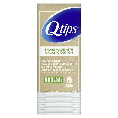 Q-tips Cotton Swabs Organic, 600 Count