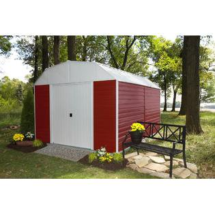 Red Barn 10 ft. x 14 ft. Steel Storage Shed(10 x 14 ft.3,0 x 4,0 m)
