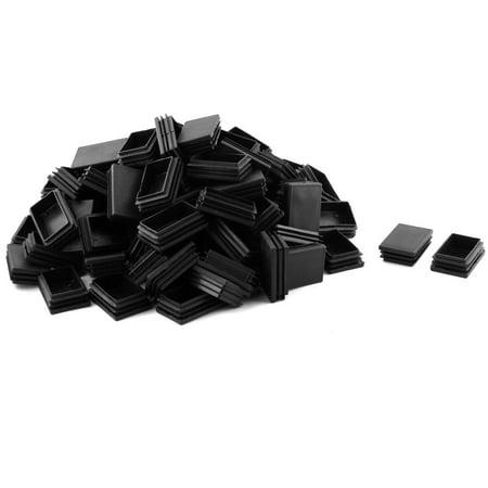 Household Plastic Rectangle Shape Desk Chair Leg Tube Insert 60 x 40mm 100 Pcs - image 2 de 2