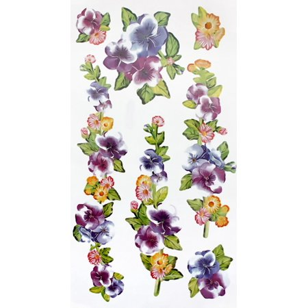Flower Wall Appliques (Flower Decor-1 - Wall Decals Stickers Appliques Home Decor)