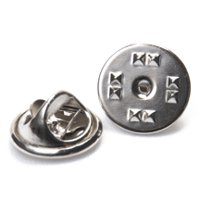 144 Pcs Tie Tack Pin Backs w/ Silver Finish Use with our JPT229 tie tack pin