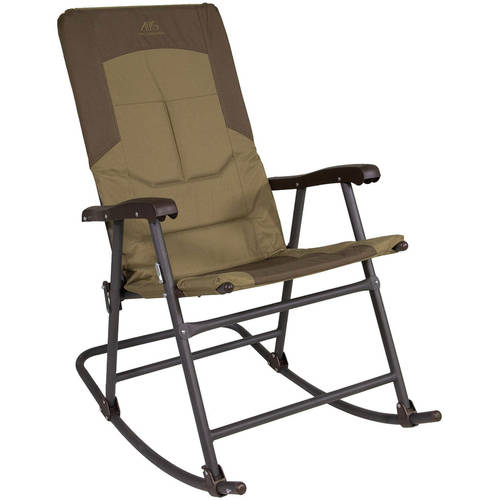 Alps Mountaineering Rocking Chair, Khaki/Brown 8114914