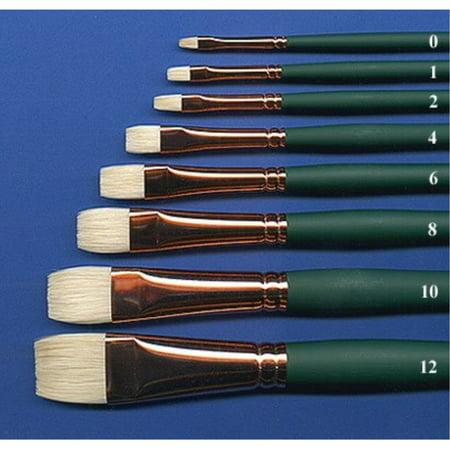 Silver Brush 1002-6 Grand Prix Premier Long Handle Hog Bristle Brush, Bright, Size 6