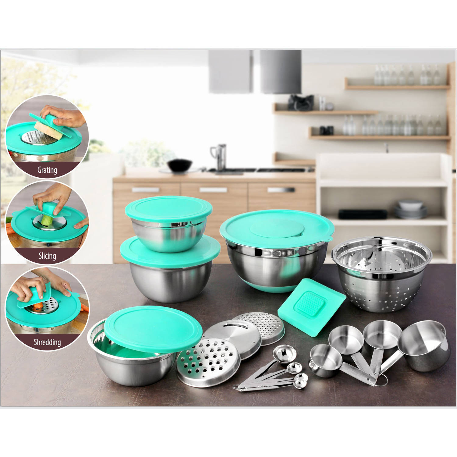 Better Homes and Garden 21-Piece Prep and Store Kitchen Set ...