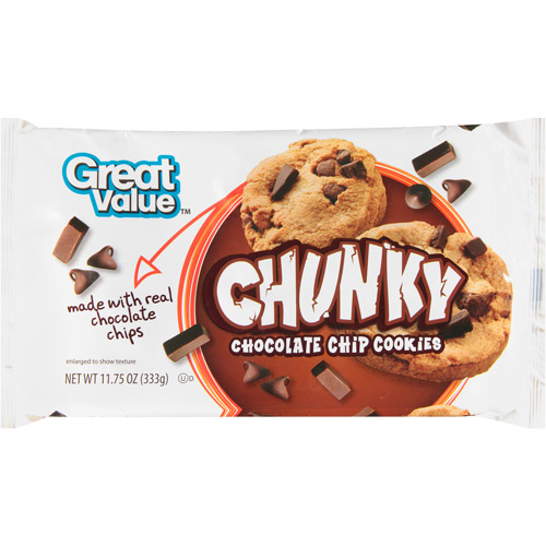 Great Value Chunky Chocolate Chip Cookies, 13 oz