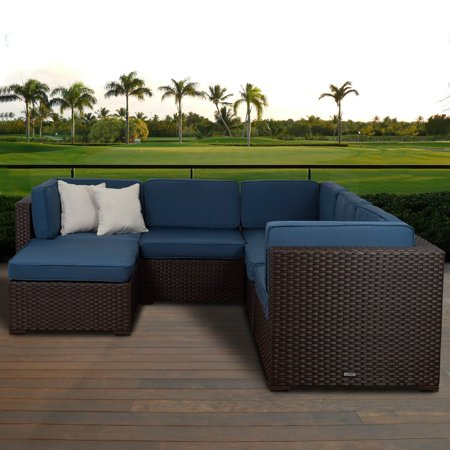 Atlantic Bellagio 6 Piece Patio Sectional Set With Cushions
