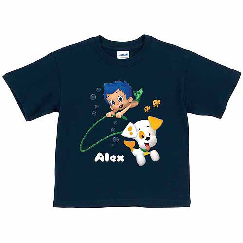 Personalized Bubble Guppies Bubble Puppy and Gil Toddler Boy Navy T-Shirt