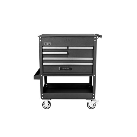 Worth 5 Tool - Frontier 31 inch Professional Tool Cart with 5 Drawers and 4 inch Industrial Grade Castors.