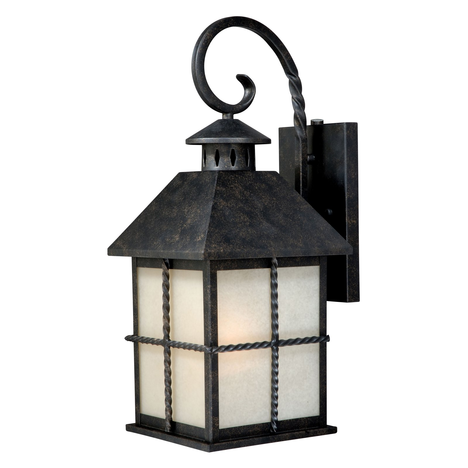 Vaxcel Savannah Outdoor Wall Light - 8W in. Gold Stone