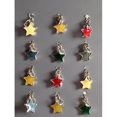 Design Solutions Color Mixed Stars Charms- 12/pck