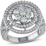 2 Carat T.W. Diamond 14kt White Gold Double Halo Engagement Ring
