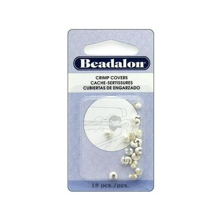Beadalon Crimp Cover 5mm 18pc Silver (Plt Cylinder)