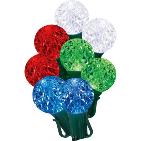 holiday time 20 count g40 led color changing christmas lights red green