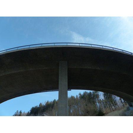 LAMINATED POSTER Curve Bridge Road Construction Architecture Road Poster Print 24 x 36