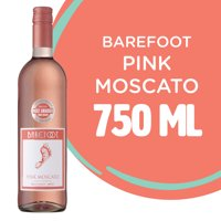 Barefoot Pink Moscato Sweet Pink Wine - 750 mL Bottle