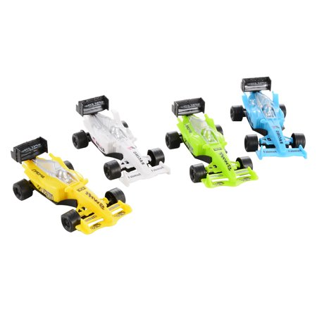 Children Mini Racing Car Toy Playset Pull Back Cars Vehicles Playset (4 Pieces) for $<!---->