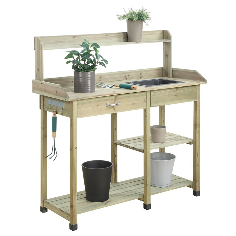 Convenience Concepts Planters and Potts Deluxe Potting Bench by Convenience Concepts