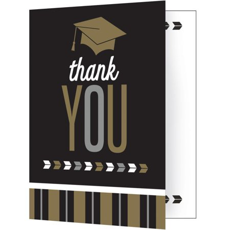 Creative Converting Silver And Gold Glitz Graduation Thank You Notes, 8 ct for $<!---->