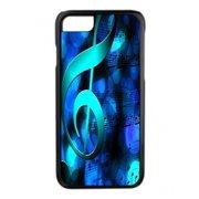 Blue Musical Clef Design Black Rubber Case for the Apple iPhone 6 Plus / iPhone 6s Plus - Apple iPhone 6 Plus Accessories -iPhone 6s Plus Accessories