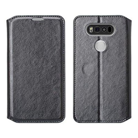 new product b3437 f29ac LG V20 Case, LG V20 Wallet Case, Slim Flip Folio [Kickstand Feature] Pu  Leather Wallet Case with ID & Credit Card Slot For LG V20 - Black