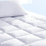 Pure Brands Queen Mattress Topper and Mattress Pad Cover Extra Thick Luxury Down Alternative Pillow Top Cooling Bed Topper Ultra Plush and Hypoallergenic Mattress Protector
