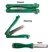 Fast Cap Wood Chisel, Folding Pocket, High Carbon Tool Steel w/Yellow Nylon 66 Handle, PC-1/2 POCKET CHISEL