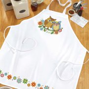 Herrschners  Bright Owls Apron Stamped Cross-Stitch