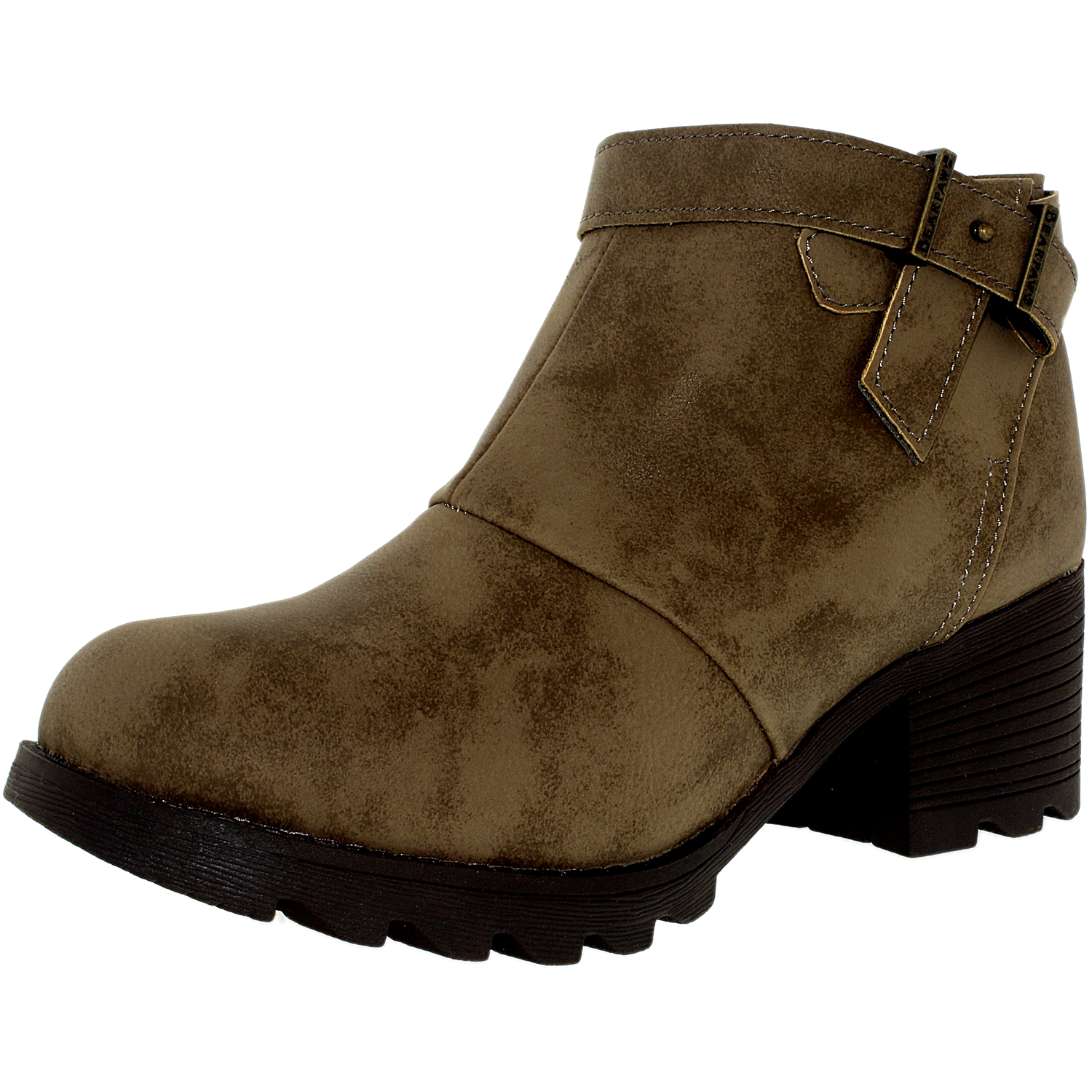 Bearpaw Women's Thea Leather/Wool Stone Ankle-High Sheepskin Boot - 9M