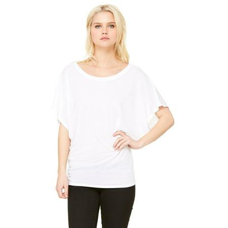 Women's Short Sleeve Draped Dolman T-Shirt