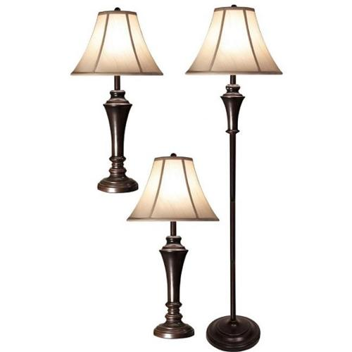 Style Craft PG8018-DS Set of two Table Lamps Club Floor Lamp