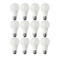 Great Value LED Light Bulb, 13.5W (75W Equivalent) A19 Lamp E26 Medium Base, Soft White, 12-Pack