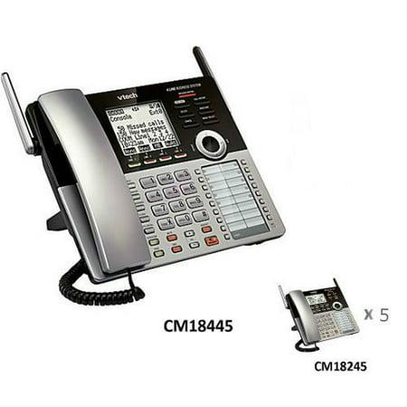 bc7805851c8 VTech CM18445 4-Line Expandable Corded Base Phone with CM18245-5 Desksets -  Walmart.com